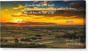 I Am The Light Canvas Print by Robert Bales