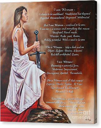 I Am Woman Canvas Print by Ilse Kleyn