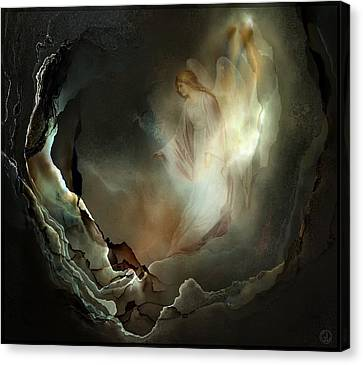 I Believe In Angels  Do You Canvas Print by Gun Legler