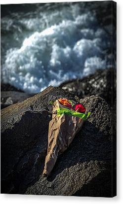 I Brought These For You You Never Came Canvas Print by Peter Tellone
