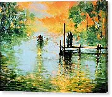 I Didn't Pay The Ferryman Canvas Print by Andrew Hewkin