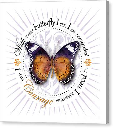 I Have Courage Whenever I Need It Canvas Print by Amy Kirkpatrick