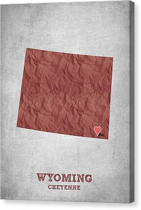 I Love Cheyenne Wyoming - Red Canvas Print by Aged Pixel