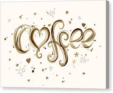 I Love Coffee Canvas Print by Olga Shvartsur