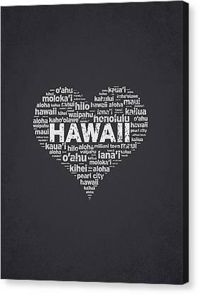 I Love Hawaii Canvas Print by Aged Pixel