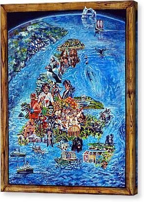 I Love Newfoundland Canvas Print by Michael Gaudet