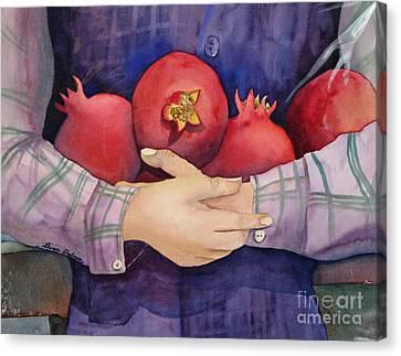 I Love Pomogranates Canvas Print by Shirin Shahram Badie