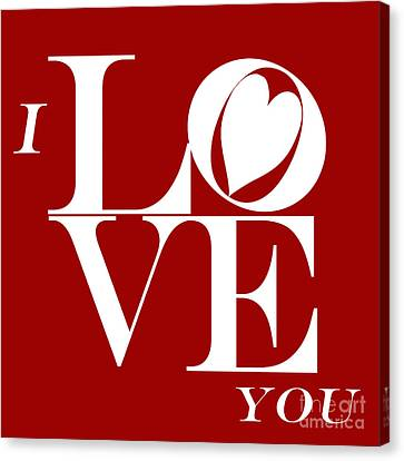 I Love You Canvas Print by Mariola Bitner