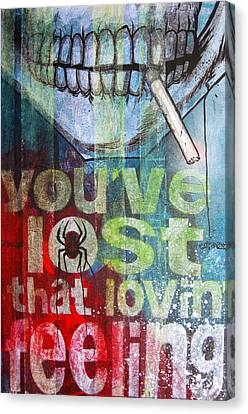 I Might Like You Better If We Slept Together Canvas Print by Bobby Zeik