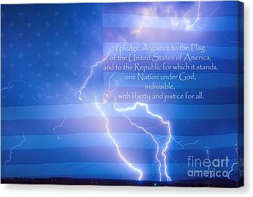 I Pledge Allegiance To The Flag  Canvas Print by James BO  Insogna