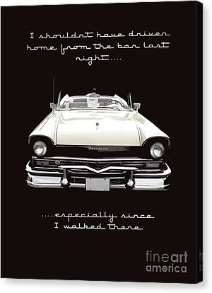 I Should Not Have Driven Home From The Bar Canvas Print by Edward Fielding
