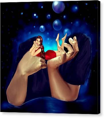 I Think Of U And U Think Of Me  Canvas Print by Mayur Sharma