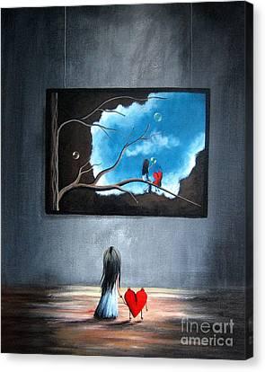 I Think We're Being Followed By Shawna Erback Canvas Print by Shawna Erback