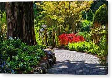 I Walk Through The Garden Alone Canvas Print by Jordan Blackstone