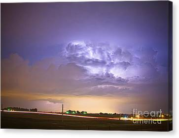 I25 Intra-cloud Lightning Strikes Canvas Print by James BO  Insogna