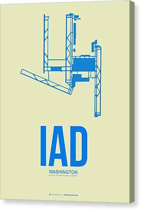 Iad Washington Airport Poster 1 Canvas Print by Naxart Studio