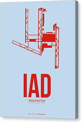 Iad Washington Airport Poster 2 Canvas Print by Naxart Studio