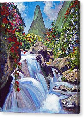 Iao Needle Maui Canvas Print by David Lloyd Glover