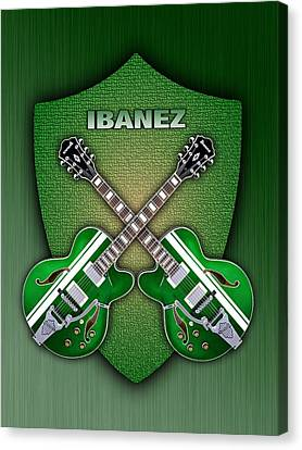 Ibanez Geen Shield Canvas Print by Doron Mafdoos