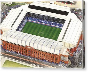 Ibrox Stadium Canvas Print by Kevin Fletcher