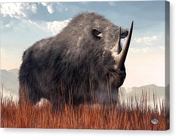 Ice Age Rhino Canvas Print by Daniel Eskridge