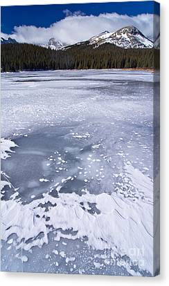 Ice And Snow Of Brainard Lake Canvas Print by Benjamin Reed