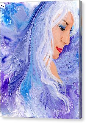 Ice Angel Canvas Print by Sherry Shipley
