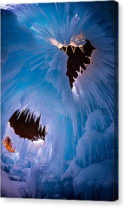 Ice Castle Windows To The Starry Night Canvas Print by Mike Berenson