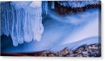 Ice Chandelier Canvas Print by Jeff Sinon