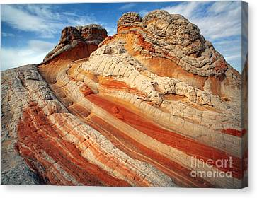 Ice Cream Rock Of White Pockets Canvas Print by Keith Kapple