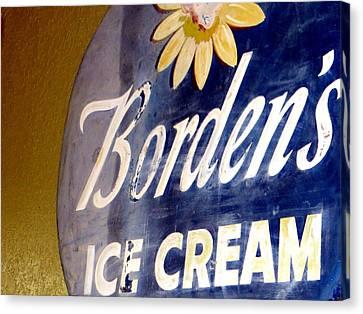 Ice Cream Sign Canvas Print by Dorothy Menera