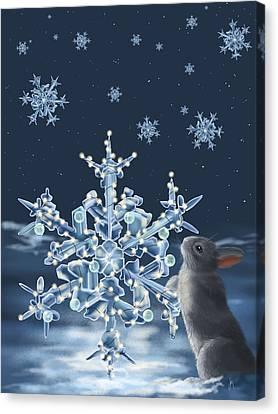 Ice Crystals Canvas Print by Veronica Minozzi