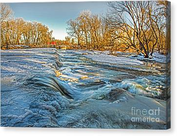 Ice Falls 2 Canvas Print by Baywest Imaging