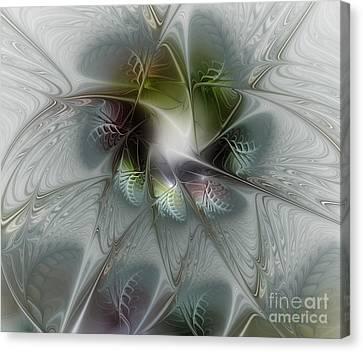 Ice Flower Canvas Print by Karin Kuhlmann
