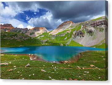 Ice Lake Afternoon Canvas Print by Darren  White