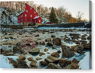 Ice Mill Canvas Print by Kristopher Schoenleber