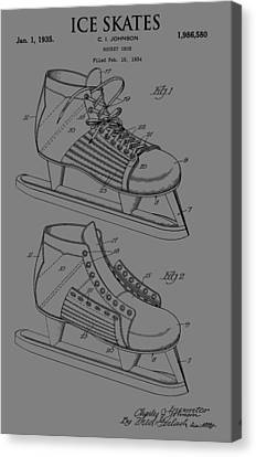 Ice Skate Patent Canvas Print by Dan Sproul