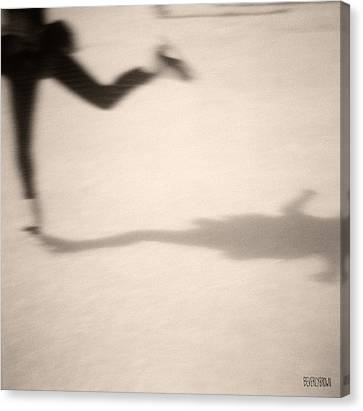 Ice Skater Canvas Print by Beverly Brown