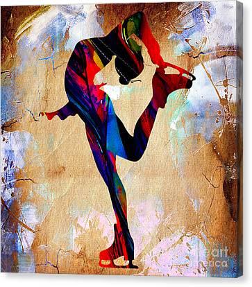 Ice Skater Canvas Print by Marvin Blaine
