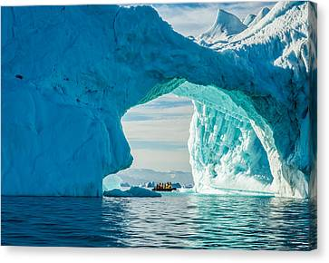 Iceberg Arch - Greenland Travel Photograph Canvas Print by Duane Miller