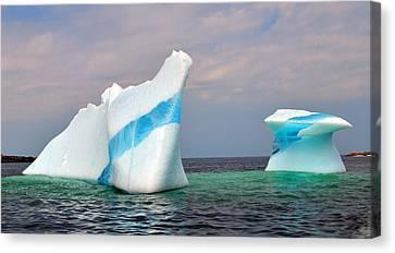 Iceberg Off The Coast Of Newfoundland Canvas Print by Lisa Phillips