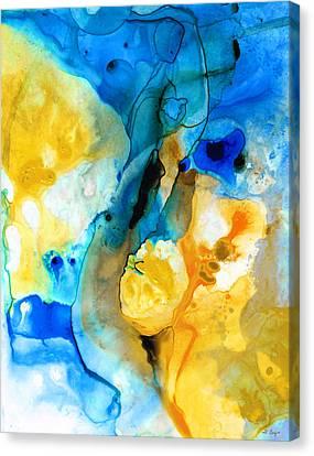 Iced Lemon Drop - Abstract Art By Sharon Cummings Canvas Print by Sharon Cummings