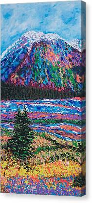 Icefields Alberta Mountain Canvas Print by Joyce Sherwin