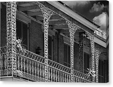 Iconic New Orleans Wrought Iron Balcony Canvas Print by Christine Till