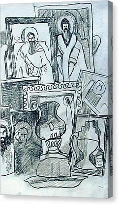 Icons Canvas Print by Anita Dale Livaditis