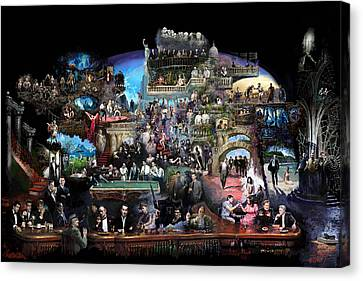 Icons Of History And Entertainment Canvas Print by Ylli Haruni