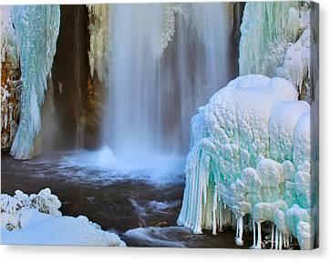 Ice Falls Canvas Print by Kadek Susanto