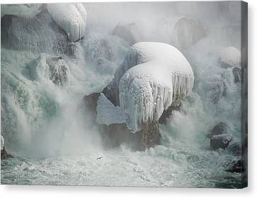 Icy Falls Canvas Print by Tracy Munson