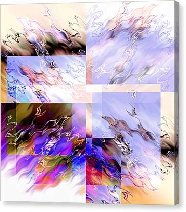 Icy Flames Canvas Print by Hakon Soreide