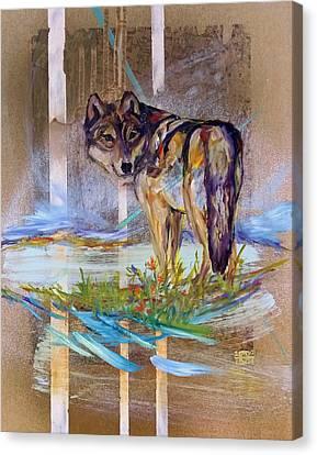 Idaho Wolf Canvas Print by Andrea LaHue aka Random Act